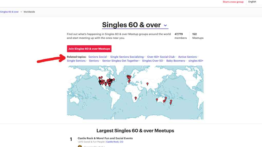 join meetups to meet singles over 60